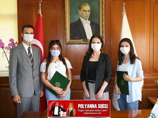 TÜBİTAK'ın Yarışmasında Birinci Olan Öğrenciler Rektör Prof. Dr. Tuncel'i Ziyaret Etti